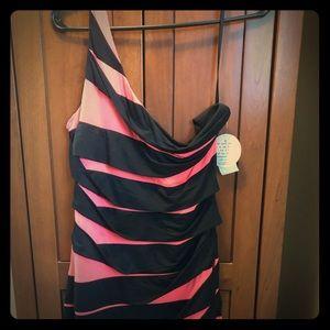 Deb one shoulder mini dress